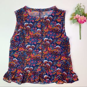 Cabi Lindsey Vibrant Floral Tank #5391 Size Small
